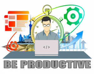 how to be productive at work place